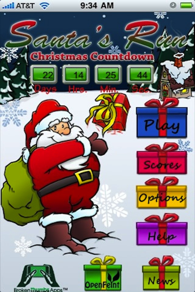 Screenshot Santa's Run – Tossing Christmas Presents Around the World